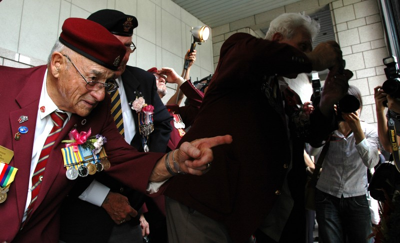 Korean War veterans at the Korean War Museum